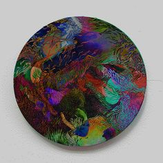 menteurmenteur:WORLD #1.5Oil paint on round canvas10 cm diameter