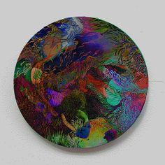 menteurmenteur:WORLD #1.5Oil paint on round canvas10cm diameter