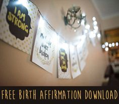 Would you like some FREE printable birth affirmations? Well, I have good news! My wonderful friend Sashi is a graphic designer and has created some beautiful birth affirmations for her upcoming bir… Natural Birth, Natural Baby, Free Printable Art, Free Printables, Birth Quotes, Prepare For Labor, Birth Affirmations, All About Pregnancy, Birth Doula