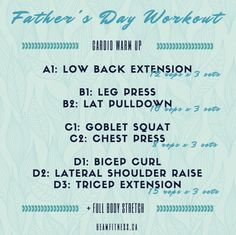 An ode to fit fathers on Father's Day! Head to www.beamfitness.ca for more nutrition and fitness information!