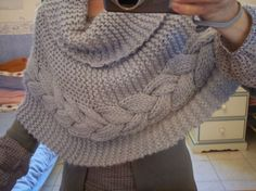 L'Atelier de Claire Knitting Projects, Knitting Patterns, Fifty Shades Of Grey, Knit Crochet, Pullover, Outfits, Fashion, Hooded Scarf, How To Knit