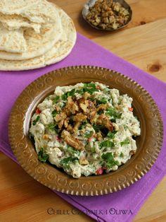 Turecka pasta z bakłażanów z kminem rzymskim i orzechami włoskimi Eggplant, Risotto, Dips, Salads, Roast, Chilli, Ethnic Recipes, Food, Sauces
