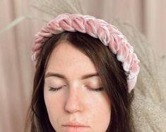 Velvet headband with beads hair accessories women fashion Thick Headbands, Hair Beads, Headband Hairstyles, Women Accessories, Velvet, Womens Fashion, Handmade, Etsy, Beauty