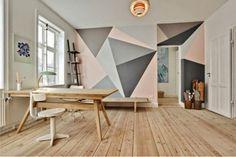 Geometric Walls http://maryaninteriordesign.blogspot.com.es/2014/05/geometric-walls_5.html