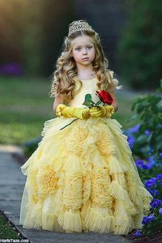 Mother and Daughter Dress Fashion Princess Dresses Little Girl Princess Dresses, Cute Little Girl Dresses, Disney Princess Dresses, Cute Little Girls, Little Princess, Flower Girl Dresses, Frilly Dresses, Plus Dresses, Fairy Costume For Girl
