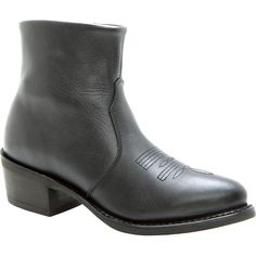 Durango Boots: Men's Black Leather Side Zip Western Boots - Style #DB950 - Durango Boot Company