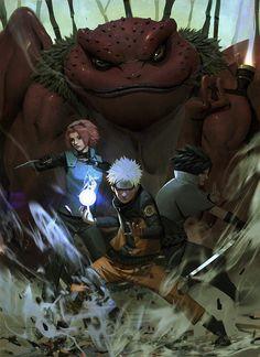Team 7 naruto sasuke and sakura Anime Naruto, Naruto Uzumaki, Hinata, Naruto Art, Naruto And Sasuke, Anime Manga, Sasunaru, Gaara, Itachi