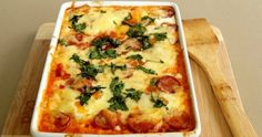 The Best Homemade Pizza You'll Ever Eat- Resep Pizza Mini Lembut Dan Gam. Cheesy Pasta Bake, Pizza Pasta Bake, Baked Pasta Recipes, Spicy Recipes, Cooking Recipes, Healthy Recipes, Spanish Baked Eggs, Vegetable Pasta Bake, Savoury Slice