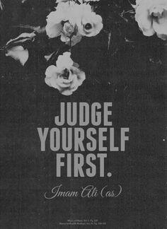MAULA a.s judge yourself first