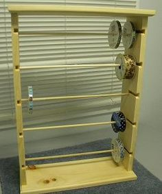 Ribbon rack organizer holds 125 spools 4 and by CustomWoodConcepts, $39.99