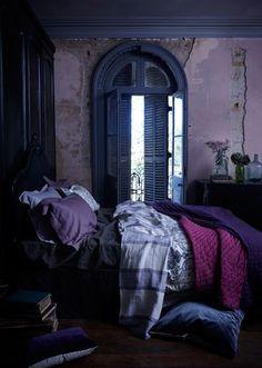 Romantic purple bedroom on pinterest purple duvet covers for Romantic purple bedroom
