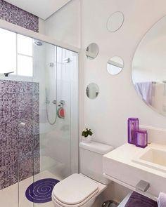 Inspiração de banheiro clean e super fofo!  #banheiromeunovoapê  Foto: Reprodução/Pinterest