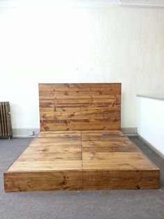 Rustic / Industrial Bed Frame with Headboard by CustomTimberHF