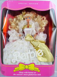 1991 Mattel 2366 JEWEL Jubilee Special Edition Barbie Doll for sale online Barbie Dolls For Sale, Vintage Barbie Dolls, Vintage Toys, Barbie 1990, Barbie Family, Barbie Princess, Barbie Dream, Barbie Collection, Barbie World