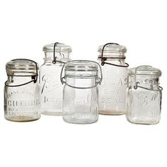 Check out this item at One Kings Lane! Collection of Kitchen Canning Jars, S/5