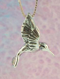 Hummingbird Necklace Hummingbird Jewelry Large by martymagic