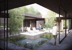 COURTYARD ARCHITECTURE SWIMMING POOL - Google Search