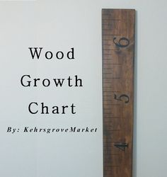 Wood Growth Chart by KehrsgroveMarket on Etsy