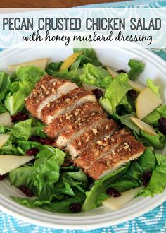 Pecan Crusted Chicken Salad with Honey Mustard Dressing – Food Contributor - Organize and Decorate Everything