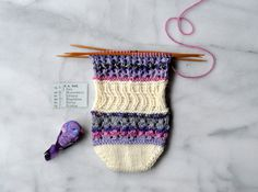 """Part 3 of our KAL """"Fruntimmerssockan"""". Pattern available in Swedish and Norwegian on our blog."""