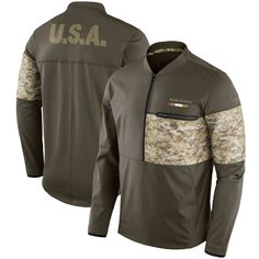 3f1f95eae Men s New Orleans Saints Olive Salute to Service Sideline Hybrid Half-Zip  Pullover Jacket - Sports Fans Goods