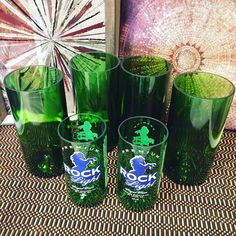 #wine #bottle #glasses and #rollingrock #light #drinkingglasses cut and #polished ready to be shipped out tomorrow!! #etsylife #etsysale #etsyshop #etsysellersofinstagram #beersofinstagram #beers #handmade #winelover #wineglass #lovemyjob #lovemylife