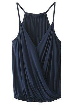 dark blue surplice cami top