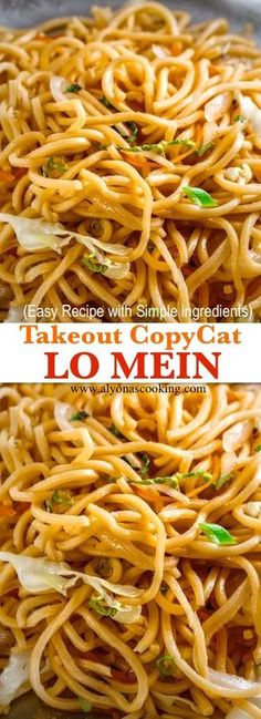 lo-mein-copycat-takeout-recipe-easy-lo-mein-alyonascooking-lo-mein-recipe- lo mein recipe chinese food stir fry Lo Mein (Take-Out Copycat) Recipe Asian Noodle Recipes, Chinese Chicken Recipes, Recipe Chicken, Chicken Lo Mein Recipe Easy, Homemade Chinese Food, Easy Asian Recipes, Chinese Shrimp Lo Mein Recipe, Chicken Pasta, Good Chinese Food