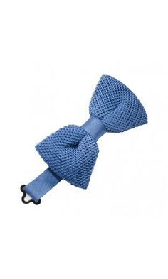 Leisure Blue Premium Silk Knit Bow Tie