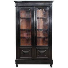Small 19th C Ebonized French Bookcase c.1880