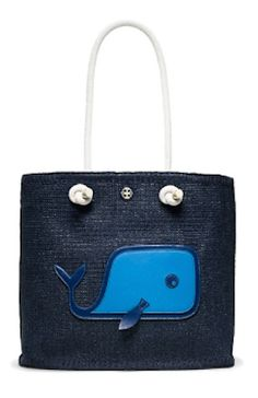 darling knotted whale tote