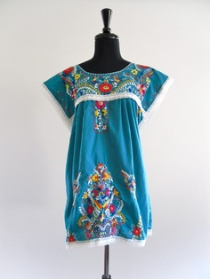 1970 vintage mexican dress