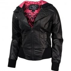 Womens Metal Mulisha Black Metal Jacket $114.99
