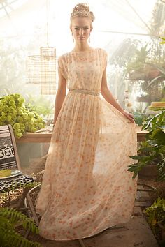 Peach Blossom Maxi Dress #anthropologie #anthrofave