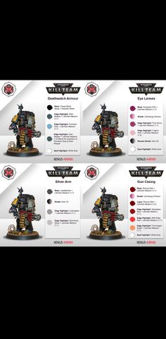 Blood Bowl Miniatures, Grey Knights, Deathwatch, Fantasy Model, Mini Paintings, Warhammer 40000, Paint Schemes, Space Marine, Shades Of Black