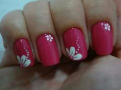 Gel Nail Art Designs, Nail Art Designs Videos, Daisy Nails, Flower Nails, Trendy Nail Art, Stylish Nails, Pink Nail Art, Pink Nails, Cute Nails