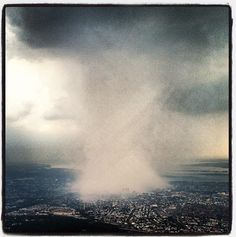 Storm towers over NYC, 7/18/12. #poisonedweather #nycstorm #climate Dhani Jones