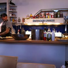 The Depanneur! This cafe/restaurant/corner store & more is located at 1033a College St. W.  Chef Vik Sharma (of La Natura) was preparing amazing meals for us that day.  We highly recommend you try this lovely place once, if you like good and healthy food.