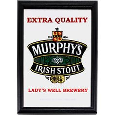 Get an Irish Pub Mirror for Your Tavern and Show Your Love for Murphys