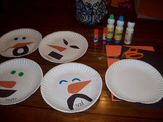 """We had a great time making """"emotional"""" snowmen this afternoon.This was a quick, easy and meaningful craft! My kind of craft! Winter Activities, Preschool Crafts, Preschool Activities, Preschool Winter, Winter Fun, Winter Theme, Winter Ideas, Toddler Crafts, Crafts For Kids"""