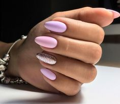 Want some ideas for wedding nail polish designs? This article is a collection of our favorite nail polish designs for your special day. Almond Acrylic Nails, Summer Acrylic Nails, Cute Acrylic Nails, Cute Nails, Pretty Nails, Summer Nails, Aycrlic Nails, Pink Nails, Wedding Nail Polish