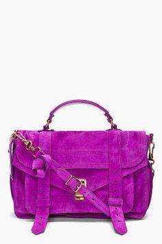 ShopStyle: PROENZA SCHOULER PS1 Medium Purple Suede Satchel