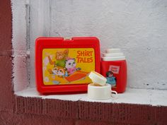 1981 Shirt Tales Lunch Box and Thermos NICE by VeiledThroughTime