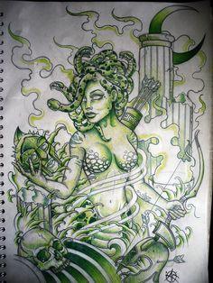 Medusa Design by Frosttattoo on DeviantArt