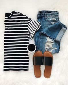Best Casual Summer Outfits Part 21 Casual Summer Outfits, Fall Outfits, Cute Outfits, Fashionable Outfits, Low Rise Boyfriend Jeans, Ootd, Everyday Outfits, Womens Fashion, Fashion Trends