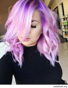 Love the purple hair and makeup - LadyStyle