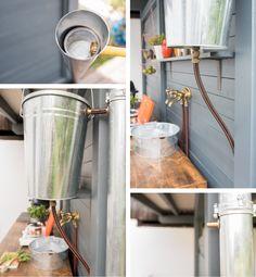 diy - upcycling outdoor Küche aus einer Werkbank