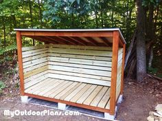 1 Cord Firewood Shed | MyOutdoorPlans | Free Woodworking Plans and Projects, DIY…