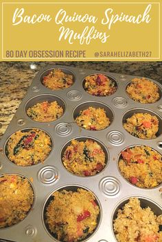 80 day obsession meal plan, 80 day obsession recipe, 80 day obsession results, - Healthy meal prep on a budget Quinoa Muffins, Egg Muffins, Fixate Recipes, Healthy Recipes, Healthy Options, Cooking Recipes, 80 Day Obsession Workout, Quinoa Spinach, Clean Eating