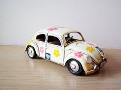 Hippie Beetle car miniature with hearts and by AkatosCollectibles, $24.00